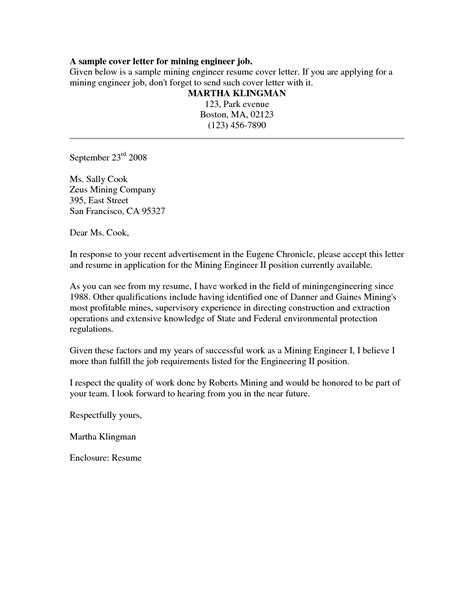 cover letter for application free sle cover letter for application