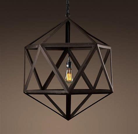 restoration hardware lights steel polyhedron medium pendant outdoor lighting
