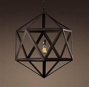 steel polyhedron medium pendant outdoor lighting With rh modern outdoor lighting
