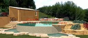 Les piscines de forme libre for Piscine forme libre avec plage 3 plage immergee et piscine diffazur piscines