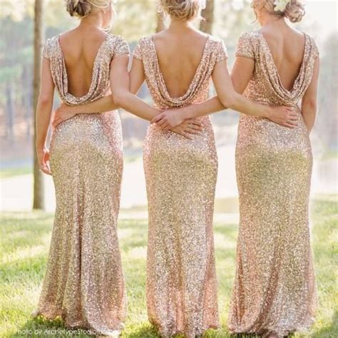metallic bridesmaid dresses best 25 gold bridesmaid dresses ideas on