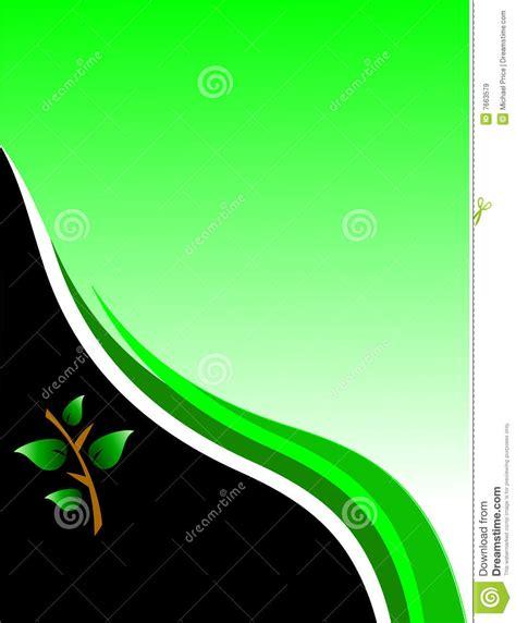 green environmental business card stock vector