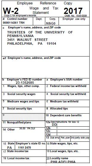adp w2 form tax forms for 2017 university of pennsylvania almanac