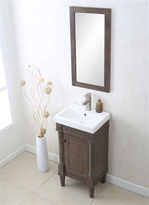 """All of our bathroom vanities state backsplashes not included. Legion Furniture - 18"""" Weathered Gray Sink Vanity - No ..."""