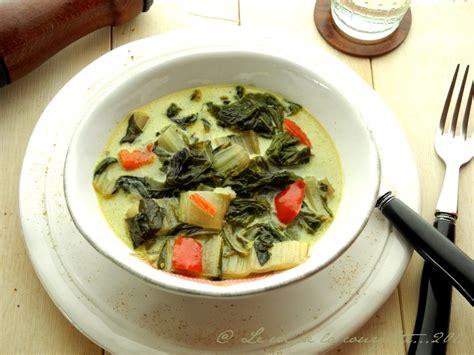 cuisiner cardes curry végétarien de blettes de recettes bio le