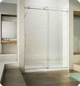 porte de douche coulissante battante et fixe en 95 idees With porte de douche coulissante avec carrelage moderne salle de bain