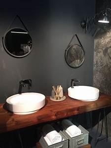 Plan De Travail Salle De Bain Bois : plan de travail salle de bain en bois pour tous les styles 20 inspirations home pinterest ~ Teatrodelosmanantiales.com Idées de Décoration