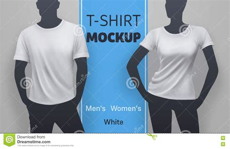 Give your clients ability to preview final effects before print/production. White t-shirt mockup stock vector. Illustration of ...