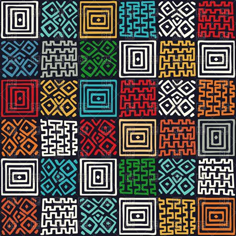 Tribal Background Abstract Ethno Pattern Tribal Background