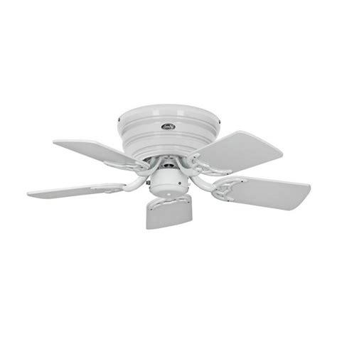 Ventilateur De Plafond Silencieux Flat De Casafan Un Ventilateur Pour Plafond Bas 75 Cm Silencieux Blanc Pales Grise Et Blanches