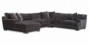 teddy fabric 4 piece chaise sectional sofa from macy39s With teddy fabric sectional sofa 4 piece