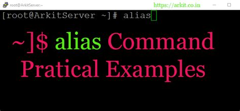 Alias Command Improve Productivity