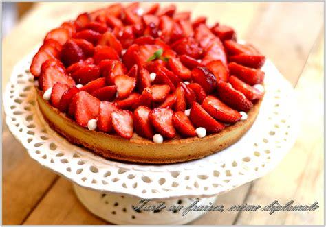 tarte aux fraises sur cr 232 me diplomate vanill 233 e cahier gourmand