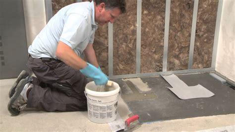 wedi en training installing  flush  floor shower