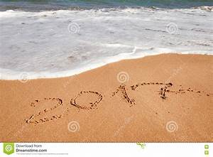 Happy New Year 2017 On The Beach Stock Photo - Image: 78642864