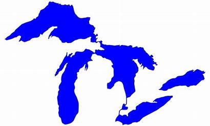 Lakes Michigan Outline Lake Silhouette Clipart Map
