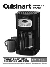 You can purchase glass carafes, carafe lids, filters, water filter holders, and filter basket holders, among other parts. Cuisinart DCC-1100 - Corp 12 Cup Coffeemaker Manual