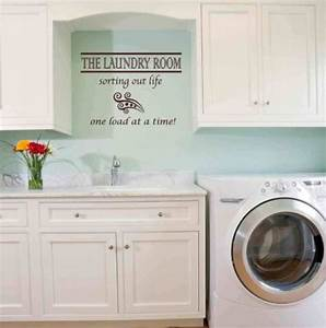 37 unique and cool basement laundry room ideas remodel With kitchen colors with white cabinets with ducks unlimited sticker