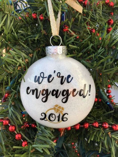 engagement ornament engaged ornament personalized