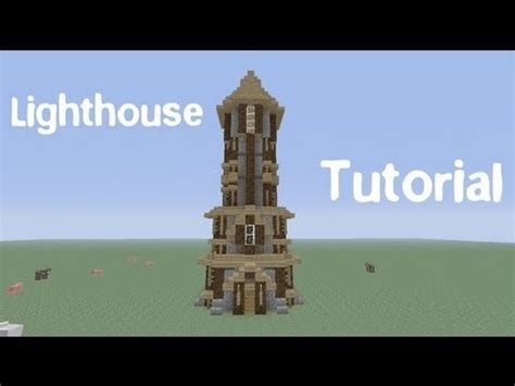 build  medieval lighthouse  minecraft youtube