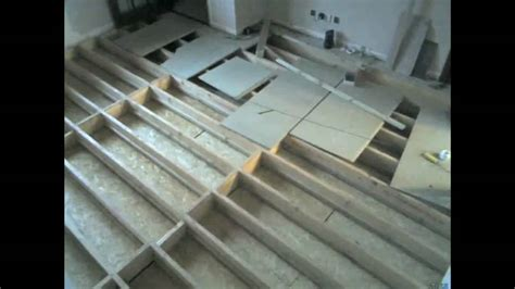 how to lay floorboards on concrete existing build install of underfloor water heating youtube