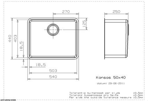 kitchen sink specs reginox kansas 50x40 single bowl sink sinks taps 2898