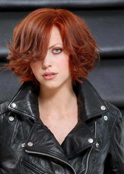 short layered bob styled with curls for a party hairstyle