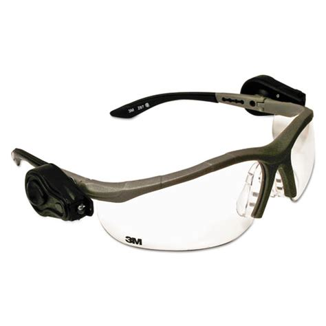 safety glasses with led lights mmm114760000010 3m lightvision safety glasses w led lights