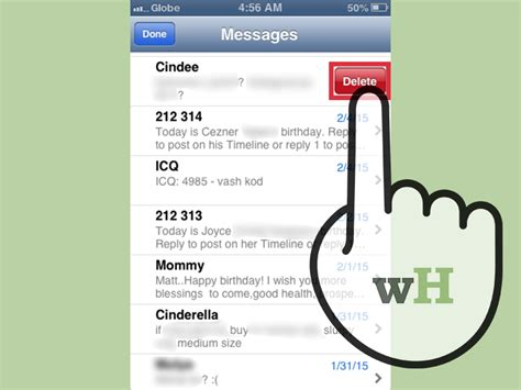 how to delete a message on iphone 5 ways to delete text messages from an iphone wikihow