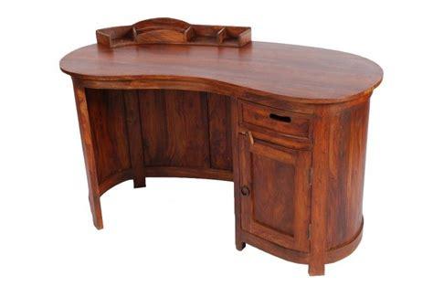 bureau palissandre bureau palissandre massif forme haricot 1 porte 1 tiroir