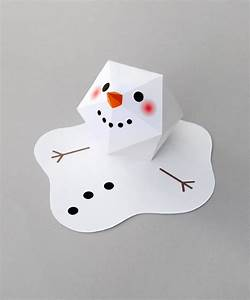 Melting paper snowman Minieco