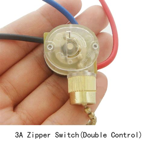 Ceiling Fan Pull Switch 4 Wires by L Zipper Switch Retro Pull Chain Ceiling Light Wall