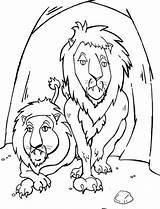 Den Daniel Lions Coloring Story Pages Colouring Printable Netart Lionsden Getcolorings sketch template