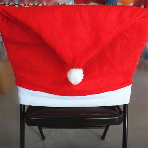 1pcs santa red hat chair covers christmas decorations