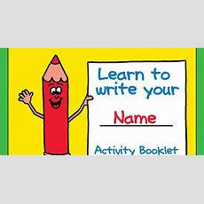 Fun Learn To Write Your Name Printable Activity Booklet