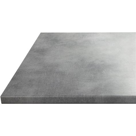 plan de travail cuisine profondeur 80 cm plan de travail stratifié effet béton mat l 180 x p 60 cm