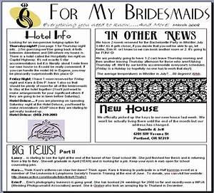danielleweddingbio With bridesmaid newsletter template