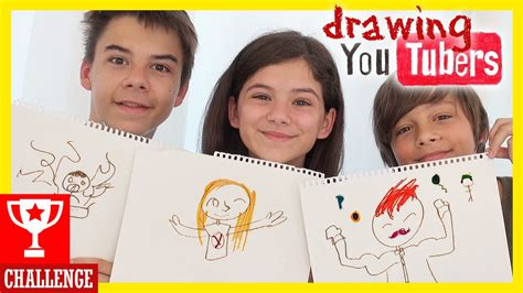 drawing youtubers challenge kittiesmama youtube