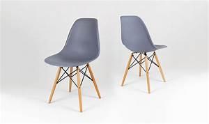 Chaise Scandinave Pied Metal : chaise eames gris ardoise en bois inspir e du style eiffel ~ Teatrodelosmanantiales.com Idées de Décoration