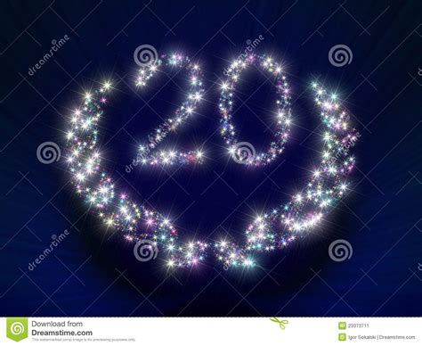 Anniversary Stars Number 20 Years Stock Image