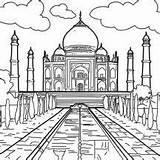 Taj Mahal Colorear Coloring Dibulos Blanco Negro Dibujos Ninos Netart Guardado Desde Marble Monumento Patrimonio Cultural Dibujar India Dibujo Nieves sketch template