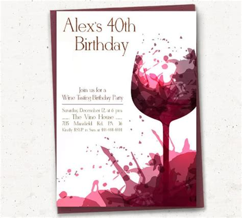 birthday invitation card template for adults free birthday invitation templates for adults