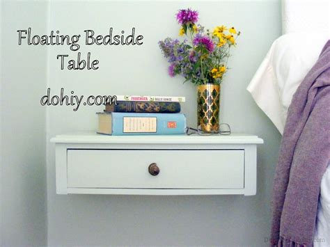 Wall Mounted Nightstand Diy by Before And After End Table To Floating Nightstand D Oh I Y