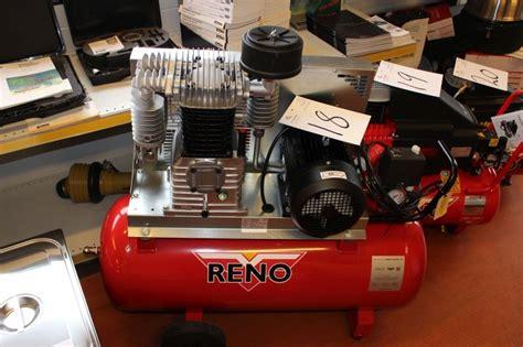 reno kompressor 10 bar 90 liter tank ubrugt kj auktion maskinauktioner