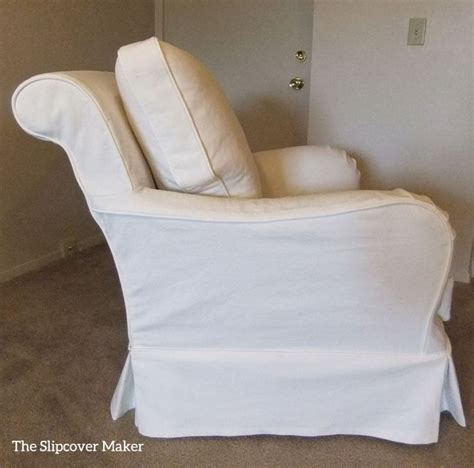 cottage style slipcover in washed heavyweight white denim