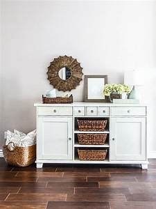 ikea buffet makeover littlehousebigplans With best brand of paint for kitchen cabinets with tj maxx wall art