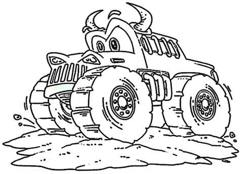 ausmalbilder kostenlos monster truck  ausmalbilder