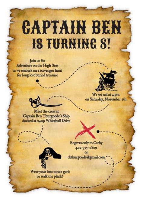 treasure map invitation nathans st birthday pirate