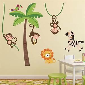 stickers muraux animaux sticker jungle heureux With chambre bébé design avec comment envoyer des fleurs pour un enterrement