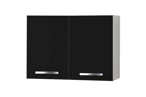 element haut de cuisine element haut de cuisine à portes noir meuble de